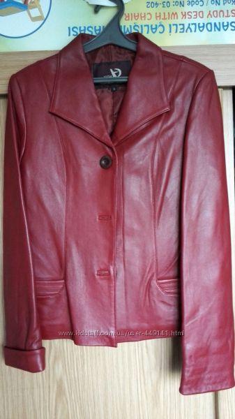 Женский пиджак, куртка, натуральная кожа, р. S