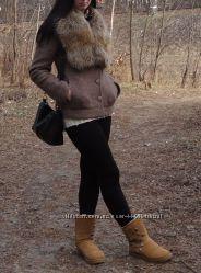 Стильное  зимнее пальто на теплой подкладке