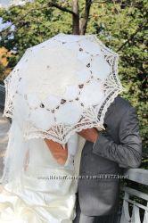 Зонтик ажурный, айвори