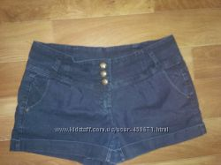 Продам джинсовые шортики, темно синие