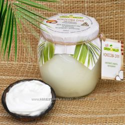 Натуральное нерафинированное кокосовое масло 1го отжима Индия Green Valley