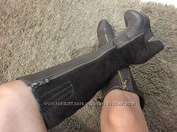 Новые стильные сапоги на каблуке-платформе