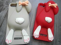 Силиконовый чехол кролик Moschino для iPhone 5
