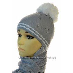 Зимние шапки и наборы для девочек