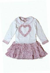 Платье комбинированное, хлопок, Lilu 86-92 р-р