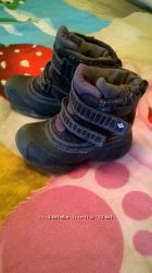 Фирменные термосапожки Columbia 16 см 28 р-р , непромокаемые ботинки сапоги