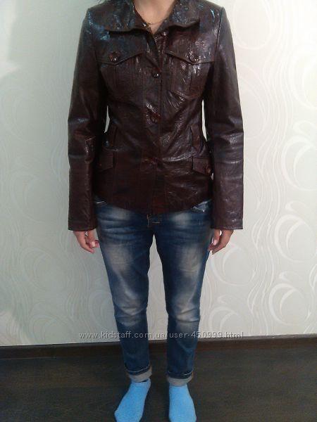 Натуральный кожаный пиджак