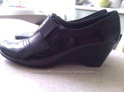 Кожаные туфли без следов носки