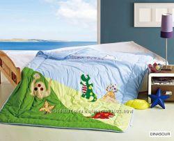Детское бамбуковое одеяло-покрывало ARYA с вышивкой антиаллергенное155х215