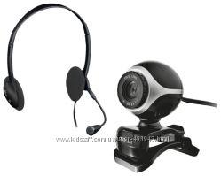 Веб камера с наушниками Trust Exis Chatpack и  WEB камера T68V KIT