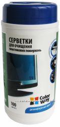 Салфетки ColorWay для очистки оргтехники, мониторов