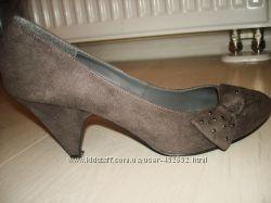 серые туфли New Look 41разм 26. 5 см
