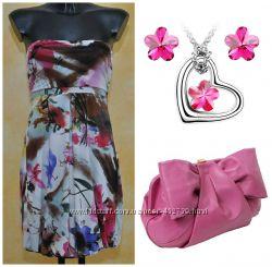 Яркое цветочное платье Floral Fantasy Италия