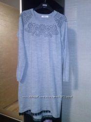3f016a0542c Трендовое платье оверсайз с гипюром.