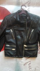 кожаная курточка zara s