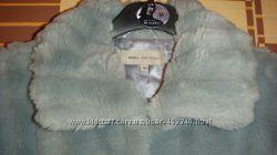 Голубая шубка, шуба, полушубок, куртка на осень-весну, деми, р. 44-46