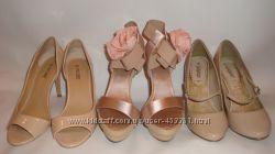Туфли, босоножки бежевые, пудровые, Нюд. Размер 36, 5-37 , праздничные, вып