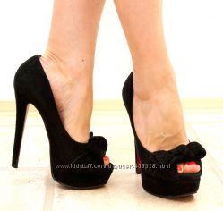 Замшевые туфли Epiffani с открытым носочком