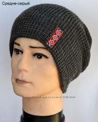 Шапка с украинским орнаментом, теплая, зимняя шапка для патриотов