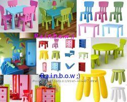 Барвисті меблі серії Маммут ІКЕА