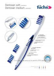 Зубные щетки fuchs Dentosan medium  со сменными головками из Германии