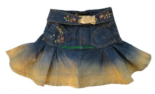 Джинсовая юбка, рост 94 - 106  см