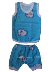 Комплект детский - майка, шортики, рост 68, 74 см
