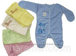 Комбинезоны - человечки - слипы для малышей, рост 56 - 92 см