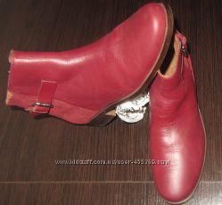 Стильные кожание ботинки ZARA