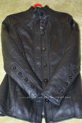 Зимняя кожаная куртка на синтепоне