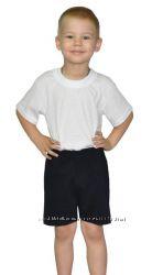 Шорты черные садик  футболка белая. Цена от размера. Рост 80-164 см