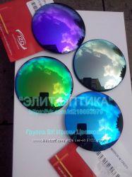 Зеркальные солнцезащитные фирменные линзы IZO по рецепту или 0, 00