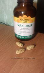 Витамины для  волос   Maxi-Hair, 90 Tablets Country Lif Country Life,