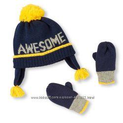 Шапка и рукавицы для мальчика Childrens place