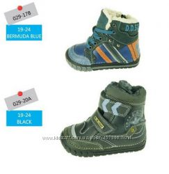 Зимняя обувь DD Step. Кожаные ботинки - мембрана DD TEX. Зима. р. 19-24
