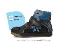 Зимние мембранные ботинки DD Step. Телячья кожа. 25-30р