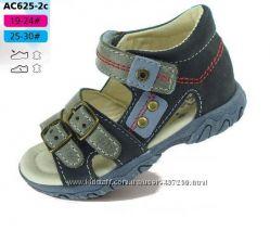 Летняя обувь  DD Step р. 19, 20, 21, 22 Кожаные босоножки, сандалии
