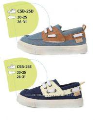 Джинсовые туфли, мокасины D. D. Step р. 20-33. На липучках. Стелька кожа