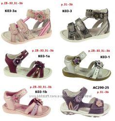 Летняя обувь для девочки. Кожаные босоножки, сандали. Бренд D. D. Step р25-