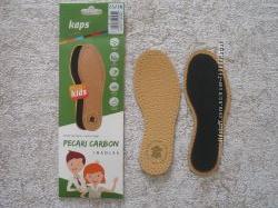 Стельки детские кожаные  Pekari Carbon Kids размер 23-34