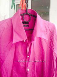 Котоновая мужская рубашка Zara S и XL
