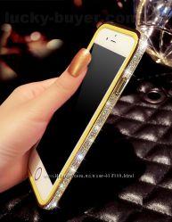 Бампер с камнями Swarovski для iPhone 6, чехлы со стразами айфон 6
