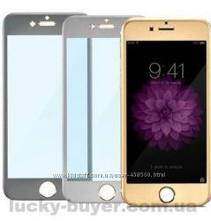 Передняя титановая панель и защитное стекло для iPhone 6