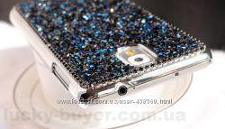 Чехлы для Samsung Galaxy Note 4 Luxury кристаллы, накладка