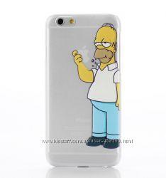 Чехлы для iPhone 6 и iPhone 6 Plus Homer Simpson, чехол-накладка Симпсоны