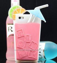 Чехлы Victorias Secret Pink коктейль для iPhone 5 5S, чехол айфон Виктория