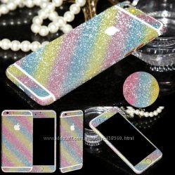 Блестящая пленка для iPhone 6 6S и iPhone 66s Plus, алмазная наклейка