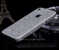 Блестящая пленка для iPhone 4 4S, алмазная наклейка айфон 4
