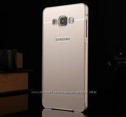 Металлический бампер для Samsung Galaxy A7 A700 с пластиковой панелью