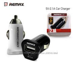 Автомобильное ЗУ Remax USB 2. 1A для смартфонов и планшетов